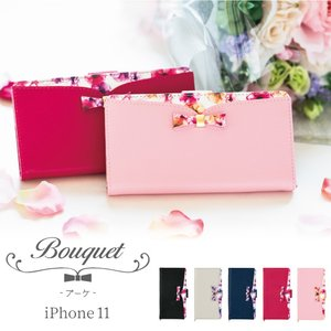 iPhone11 iPhone11Pro ケース 手帳型 花柄 カラー レザー おしゃれ ボタニカル...