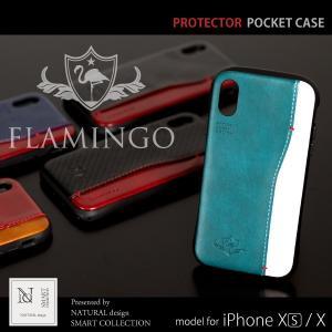 iPhone7 ケース TPU iPhone アイフォン 7 耐衝撃 ハード 衝撃吸収 ブランド 背面 ケース メンズ レザー シンプル カーボン 革 かっこいい FLAMINGO Protector