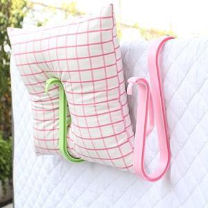 Homeland ふとんばさみ 布団挟み 靴干しハンガー 大型 プラスチック ピンク