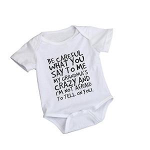 BAO8 子供服男の子女の子 英文字プリント ロンパージャンプスーツシャツ ボタン付きロンパー 夏物...