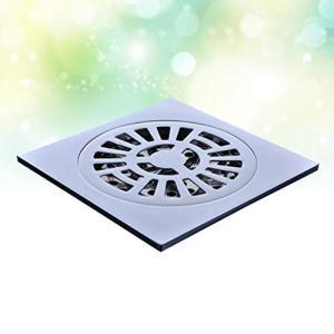 TOPBATHY 浴室のシャワー室のための正方形の床の排水屑排水カバー防臭ヘアキャッチャー