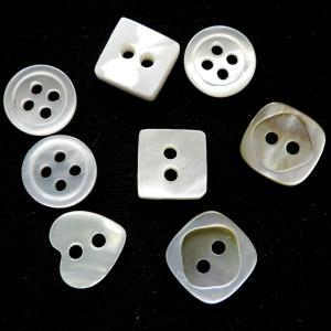 ヴィンテージボタン シェル アソートセット 最大サイズ10.7mm 最小サイズ10.2mm 8個|needlemama