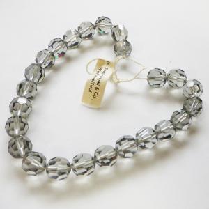 スワロフスキー ヴィンテージストランドArt.199 ブラックダイヤモンド 10mm 24個 約25センチ タグ付き 限定1本|needlemama