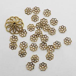 オリジナル加工11 ミリアムハスケル ビーズキャップ(6.4mmx1.2mm)27枚 +フィリグリー(15mmx4.3mm)1枚 セット  合計28枚|needlemama