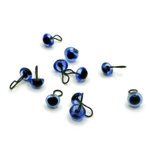 ジャーマングラスアイ 4mm ブルー 12個(6体分)|needlemama