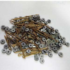 USA ハードボードジョイントセット 6mm(実際は6.35mm)コーティング加工済みピン60本+ボード120枚+ワッシャー120枚 12体分|needlemama