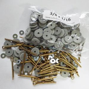 訳アリ格安 USAハードボードジョイントセット 9mm(9.52mm)ディスク120枚+ワッシャー120枚+加工済みピン60本 合計12体分のセット|needlemama
