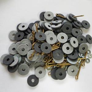 格安訳アリ USA13mm(12.82mm)ハードボードジョイントセット ハードボード120枚+金属ワッシャー120枚+加工済みUSAピン60本 合計12体分|needlemama