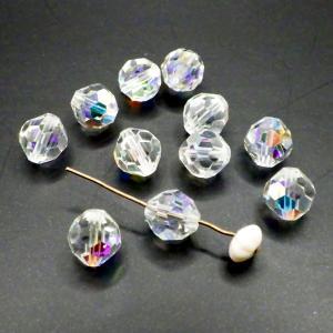 ヴィンテージスワロフスキーArt.5000 Crystalクリスタル AB 7mm11個|needlemama