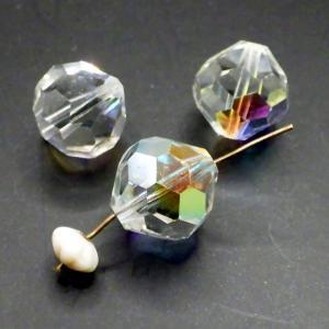 ヴィンテージスワロフスキーArt.5300 CrystalクリスタルAB 11mm 3個|needlemama