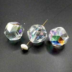 ヴィンテージスワロフスキーArt.371 CrystalクリスタルAB 14mm 3個|needlemama