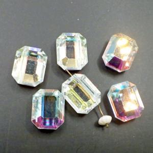 ヴィンテージスワロフスキーArt.367 CrystalクリスタルAB 15mmx12mm 6個|needlemama