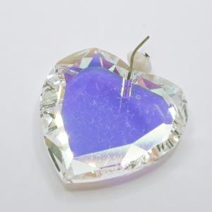 ヴィンテージスワロフスキーArt.6225 CrystalクリスタルABハート 28mm 1個|needlemama