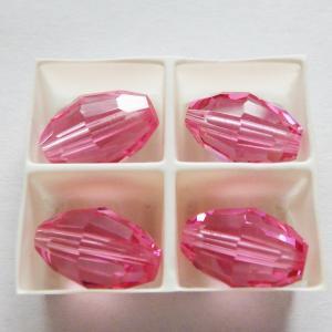 レア Art.5200 スワロフスキーヴィンテージ Rose ローズ 貴重なサイズ 10.5mmx7mm 4個|needlemama