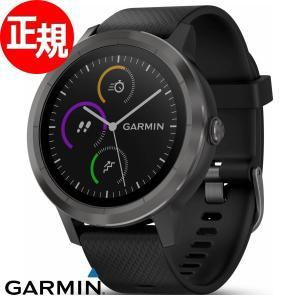 ガーミン GARMIN GPS内蔵 スマートウォッチ 時計 vivoactive3 Black Sl...