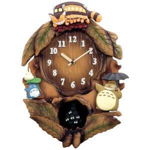 本日ポイント最大17倍!24日 23時59分まで! 掛け時計 振り子時計 キャラクター となりのトトロ 4MJ837MN06|neel