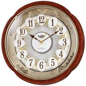 本日ポイント最大17倍!24日 23時59分まで! リズム時計 掛け時計 電波時計 からくり時計 電波クロック 4MN480RH23|neel