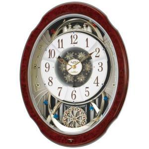 本日ポイント最大17倍!24日 23時59分まで! リズム時計 掛け時計 電波時計 からくり時計 電波クロック 4MN499RH23|neel
