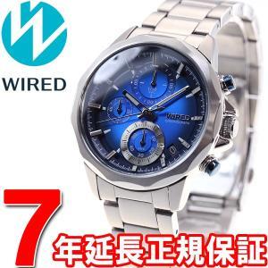 ワイアード WIRED 腕時計 メンズ ザ・ブルー クロノグラフ AGAT410 セイコー neel