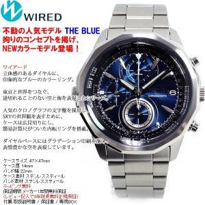 本日ポイント最大31倍!24日23時59分まで! セイコー ワイアード 腕時計 メンズ ブルー クロノグラフ AGAW419 SEIKO|neel|03