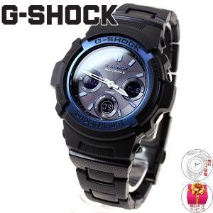 本日ポイント最大26倍!24日23時59分まで! G-SHOCK Gショック 電波ソーラー 腕時計 メンズ アナデジ ブラック×ブルー AWG-M100BC-2AJF|neel|02