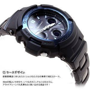本日ポイント最大26倍!24日23時59分まで! G-SHOCK Gショック 電波ソーラー 腕時計 メンズ アナデジ ブラック×ブルー AWG-M100BC-2AJF|neel|04