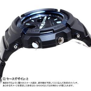 本日ポイント最大26倍!24日23時59分まで! G-SHOCK Gショック 電波ソーラー 腕時計 メンズ アナデジ ブラック×ブルー AWG-M100BC-2AJF|neel|05