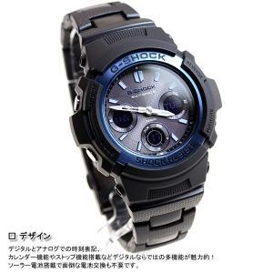 本日ポイント最大26倍!24日23時59分まで! G-SHOCK Gショック 電波ソーラー 腕時計 メンズ アナデジ ブラック×ブルー AWG-M100BC-2AJF|neel|06