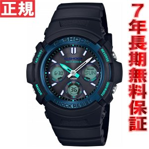 ソフトバンク&プレミアムでポイント最大20倍! Gショック G-SHOCK ファイアーパッケージ 電波 ソーラー 腕時計 メンズ AWG-M100SF-1BJR ジーショック