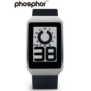 フォスファー 腕時計 PHOSPHOR メンズ デジタル E-ink 電子ペーパーウォッチ DIGITAL HOUR WATCH BLACK POLY DH01|neel