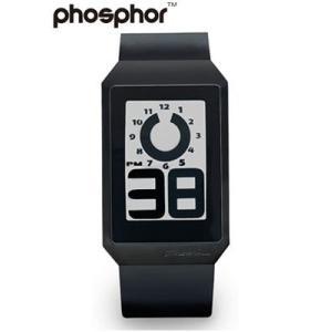 フォスファー 腕時計 PHOSPHOR メンズ デジタル E-ink 電子ペーパーウォッチ DIGITAL HOUR BLACK WATCH DH04|neel