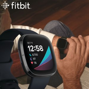 店内ポイント最大35倍!フィットビット fitbit センス sense フィットネス スマートウォッチ 腕時計 FB512BKBK-FRCJK|neel PayPayモール店