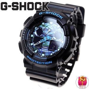 ポイント最大14倍! Gショック G-SHOCK 腕時計 ブラック×ブルー 迷彩 カモフラージュ GA-100CB-1AJF ジーショック|neel|02
