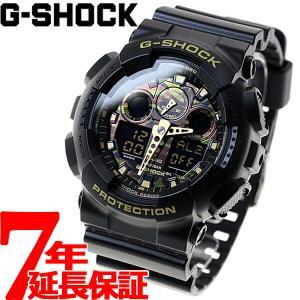 ニールならポイント最大35倍!12/4 23時59分まで! Gショック G-SHOCK カモフラージュ 迷彩 腕時計 メンズ GA-100CF-1A9JF ジーショック
