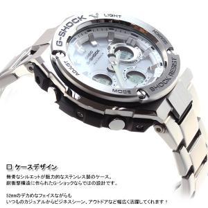 ポイント最大21倍! Gショック Gスチール G-SHOCK G-STEEL 電波ソーラー 腕時計 メンズ 白 ホワイト GST-W110D-7AJF|neel|04