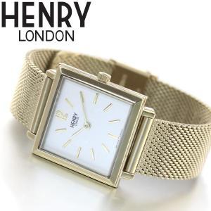 ポイント最大21倍! ヘンリーロンドン 腕時計 レディース スクエア HL26-QM-0266 HENRY LONDON neel
