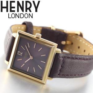 ポイント最大21倍! ヘンリーロンドン 腕時計 レディース スクエア HL26-QS-0260 HENRY LONDON neel