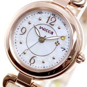本日ポイント最大31倍!27日23時59分まで! ウィッカ シチズン wicca ソーラーテック 電波時計 腕時計 レディース KL0-669-13|neel|18