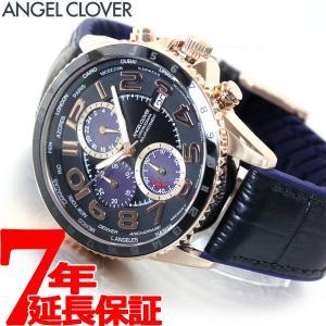ポイント最大21倍! エンジェルクローバー 腕時計 メンズ ソーラー クロノグラフ MOS44PBK-BK|neel