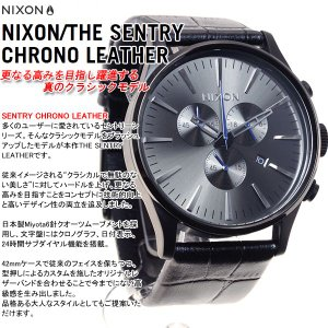 本日ポイント最大21倍! ニクソン(NIXON) セントリー クロノ レザー SENTRY 腕時計 メンズ クロノグラフ NA4051886-00 neel 03