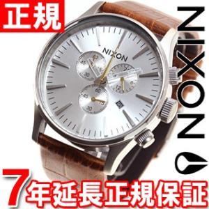 本日ポイント最大21倍! ニクソン(NIXON) セントリークロノレザー SENTRY 腕時計 メンズ クロノグラフ NA4051888-00|neel