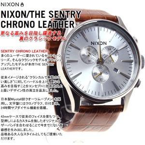 本日ポイント最大21倍! ニクソン(NIXON) セントリークロノレザー SENTRY 腕時計 メンズ クロノグラフ NA4051888-00|neel|03
