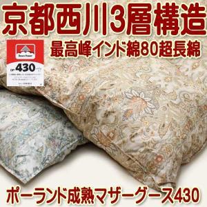 京都西川シングル三層羽毛布団ポーランド産成熟マザーグースダウン430DP|negokochi