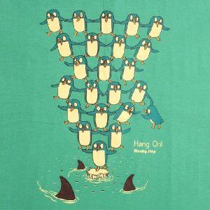 デザインTシャツ 地球温暖化の影響がここまで!ECO生活でペンギンたちを助けよう!|neigh|03