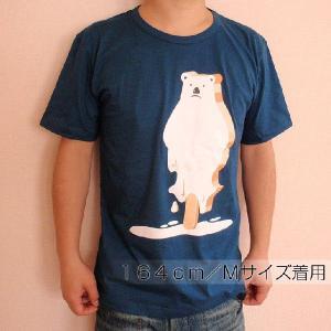 おもしろTシャツ 地球温暖化をわかりやすくデザインした一枚!「とけ始めたシロクマアイス」 自然派デザインTシャツ|neigh|04