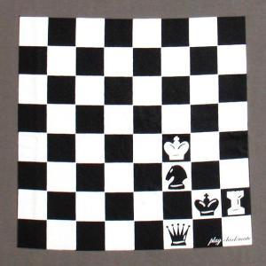おもしろTシャツ 胸にインパクト抜群のチェス盤!ボードゲーム好きにオススメ!「チェックメイト」 デザインTシャツ|neigh