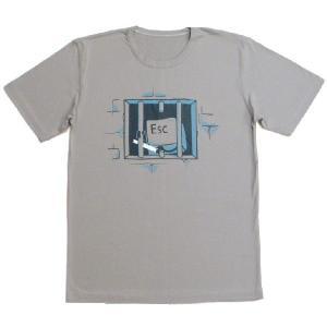 おもしろTシャツ キーボードの牢屋からの脱獄!?「ESCキーの脱獄」あなたのキーボードからも脱走してるかも!? デザインTシャツ|neigh|02