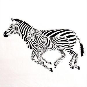 おもしろTシャツ 動物Tシャツでトリックアート!?「シマウマは2頭」 デザインを重ねたら消えちゃうマジック!? デザインTシャツ|neigh