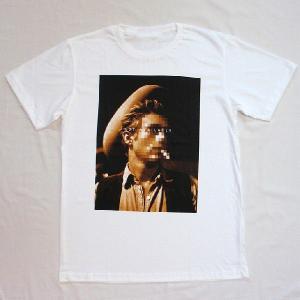 グラフィックTシャツ 「NOT AVAILABLE(顔見せできません)デザイン」 ん?ジェー●ズ・デ●ーン? 大人の事情Tシャツ|neigh|02