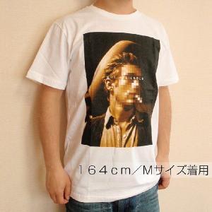 グラフィックTシャツ 「NOT AVAILABLE(顔見せできません)デザイン」 ん?ジェー●ズ・デ●ーン? 大人の事情Tシャツ|neigh|04